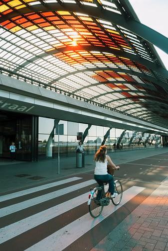 Dankbaar voor de veiligheid om te fietsen