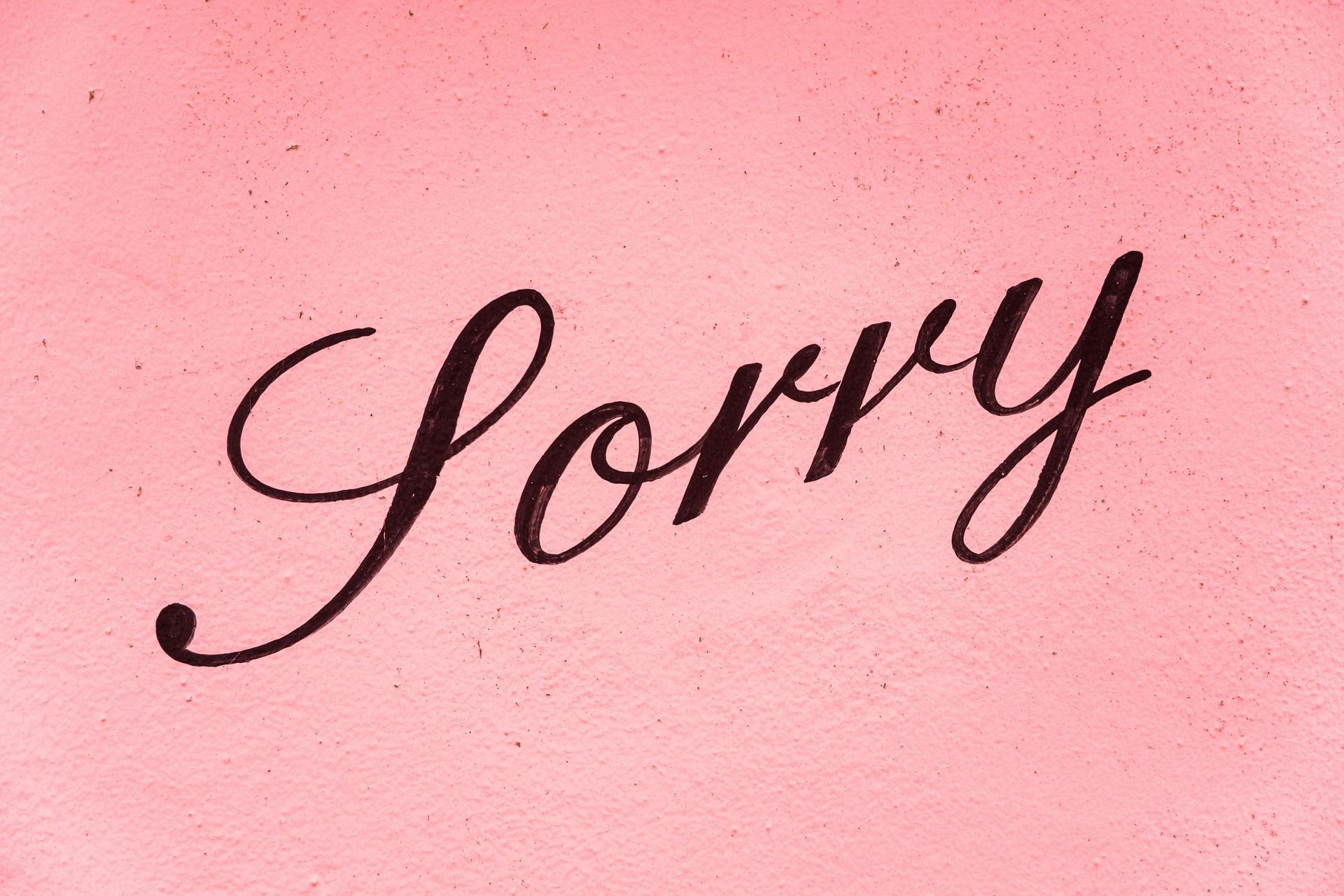 De 7 elementen van een succesvolle verontschuldiging
